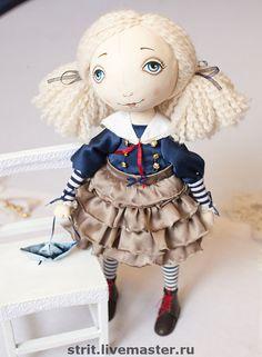 Купить Капитанская дочка - капитанская дочь, море, морской стиль, авторская кукла, девочка