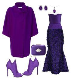 """# shades of purple # deep purple"" by andrea-jones-4 ❤ liked on Polyvore featuring Harris Wharf London, Bambah, Delpozo, Steve Madden, Badgley Mischka and BillyTheTree"