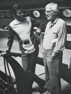 Star Trek: The Motion Picture (1979)  Shatner and Wise behind the scenes