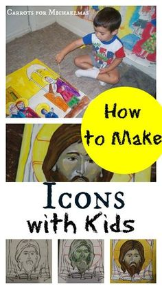 Making Icons with Kids: Open a Sacred Window (Carrots for Michaelmas) Catholic Crafts, Catholic Kids, How To Make Icons, Painting For Kids, Art For Kids, Saints For Kids, Religion, Religious Education, Lessons For Kids