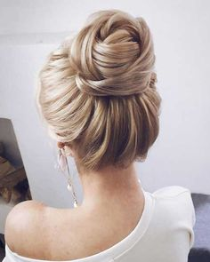 92 Drop-Dead Gorgeous Wedding Hairstyles For Every Bride To Be – Laine Kocure 92 Drop-Dead Gorgeous Wedding Hairstyles For Every Bride To Be Textured wedding updo hairstyle ,messy updo wedding hairstyles ,chignon , messy updo hairstyles ,bridal updo Hairstyles For Long Hair Easy, Bride Hairstyles, High Bun Hairstyles, Gorgeous Hairstyles, Hairstyle Ideas, Classic Updo Hairstyles, Trendy Hairstyles, Long Hair Buns, Hairstyles For Weddings Bridesmaid