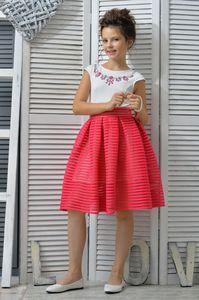 Нарядное Платье и Жакет для девочки Фуксия 579/580, купить детские платья по низким ценам в интернет-магазине KidsElegant