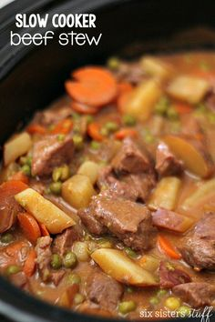 Slow Cooker Beef Stew from SixSistersStuff.com