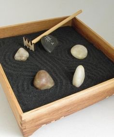 A small Zen Garden would be a nice addition to my desk or the 'quiet zone.'
