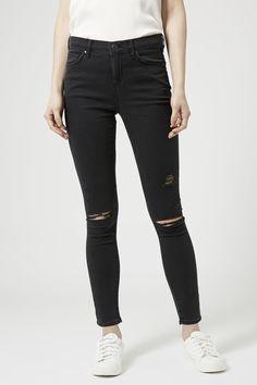 Jeans noir moto