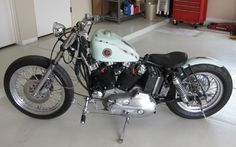 Photo of Distressed Bobber - 1978 Ironhead Bobber Motorcycle by Justin of DP Customs.