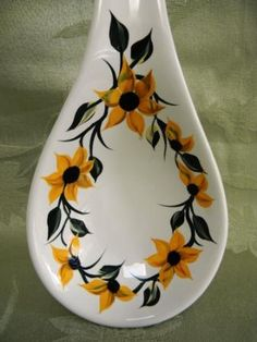 NEW spoon rest with sunflowers by Morningglories1 on Etsy, $14.00