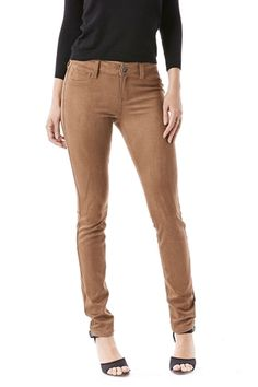 Love these faux suede jeans!