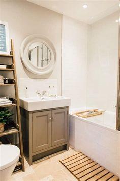 country Bathroom Decor Modern Bathroom With Topps Tiles Floor Tiles - Elles Modern Country Bathroom Modern Country Bathrooms, Modern Bathroom Sink, Bathroom Floor Tiles, Modern Bathroom Design, Bathroom Interior Design, Modern Bedrooms, Bathroom Cupboards, Bathroom Designs, Small Bathroom