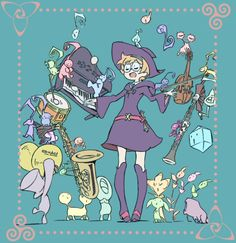 I like to imagine that when this card comes up during the credits, Lotte and her faeries are the ones singing and playing the music to the credit song. It's such a pleasant song to listen to.