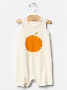 Organic orange tank one-piece