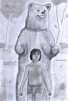 Jungle Book - Mowgli and Baloo + Some sketches, Gequibren Art on ArtStation at https://www.artstation.com/artwork/DeByy
