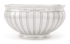 """Tiffany & Co. PUNCH BOWL below the rim inscribed """"VINVM LAETIFICET COR HOMINIS""""  marked on base and numbered 18807-4284 silver 34.3 cm diameter 13 1/2  in. 114 oz 3545.4 g circa 1914 New York"""