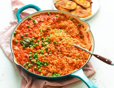 Jellof Rice (Oven and Stovetop Method) - Kayann Saffa - African Food Ghanaian Food, Nigerian Food, Side Dish Recipes, Fish Recipes, Side Dishes, Drink Recipes, Chicken Recipes, Jellof Rice, Lunches
