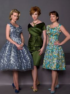 The ladies of Mad Men.  I really love both of the dresses on January Jones and Christina Hendricks.
