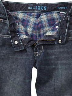 Gap Kids plaid lined jeans.