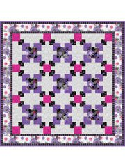 "Squares All Around Quilt Pattern = lap quilt 64 X 64"" or table runner 16 X 48"""
