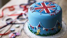 Personalised Union Jack Cake biscuiteers - delicious hand iced biccies to order on line - say it with icing