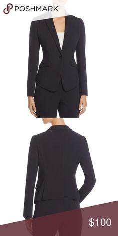 decefc6c BOSS Hugo Boss Womens Jalania Navy Blazer 14 NEW BOSS Hugo Boss Women's  Jalania Navy Office