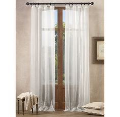 RH& Silk Organza Drapery:Woven from filaments of pure silk, our drapery adds light-filtering privacy. Dress the window alone or layer our silk organza drapery under heavier-weight panels. Pleated Curtains, Lined Curtains, White Curtains, Silk Curtains, Polyester Material, Furniture Vanity, Custom Curtains, House Windows, Kitchen Windows