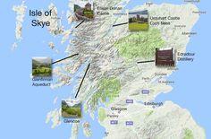 Scotland Map Road Trip