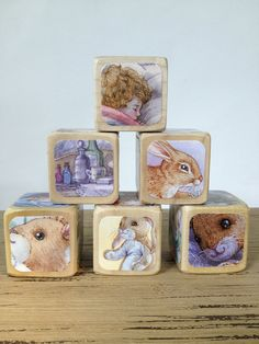 The Velveteen Rabbit Blocks  // Childrens Book Blocks // Natural Wood Toy