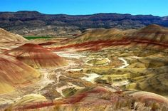 Oregon's Painted Hills, part of John Day Fossil Beds by Mark Copeland