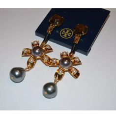 New Tory burch Rowan flower drop earring New with tag, never worn. Comes with pouch. Retail for $195. Tory Burch Jewelry Earrings