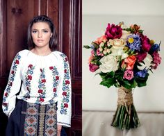 Flowers and Romana fashion mix together magically. Handmade Flowers, Romania, Ootd, Colorful, Embroidery, Unique, Long Sleeve, Nature, Sleeves