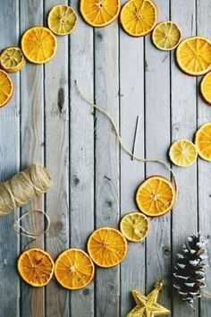 a Very Hyggelig Holiday: 65 Scandinavian Decorating Ideas This dried citrus garland will add Scandinavian charm and a fresh scent to your home.This dried citrus garland will add Scandinavian charm and a fresh scent to your home. Hygge Christmas, Noel Christmas, Christmas 2017, Winter Christmas, Christmas Crafts, Christmas Decorations, Christmas Cookies, Natural Christmas, Simple Christmas