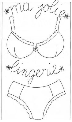 sewing idea for embroidery ♥ Applique Templates, Applique Patterns, Sewing Hacks, Sewing Projects, Lingerie, Machine Embroidery, Needlework, Embroidery Designs, Quilts
