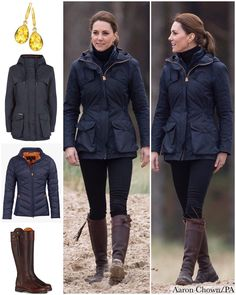 The Duchess returned to some old favourites from her wardrobe for today's visit to Wales. We saw the return of Kate's Philosophy di… Looks Kate Middleton, Estilo Kate Middleton, Kate Middleton Fashion, Duchess Kate, Duchess Of Cambridge, Winter Wear, Autumn Winter Fashion, Barbour Jacket Women, Country Fashion