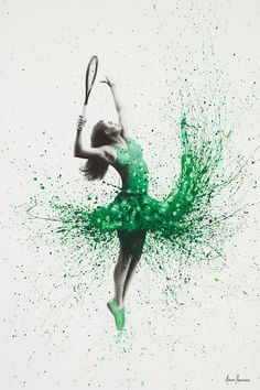 Wimbledon Woman by Ashvin Harrison is printed with premium inks for brilliant color and then hand-stretched over museum quality stretcher bars. Money Back Guarantee AND Free Return Shipping. Ballet Painting, Dance Paintings, Woman Painting, Paintings For Sale, Abstract Canvas Art, Canvas Wall Art, Tennis Wallpaper, Women Poster, Art Corner
