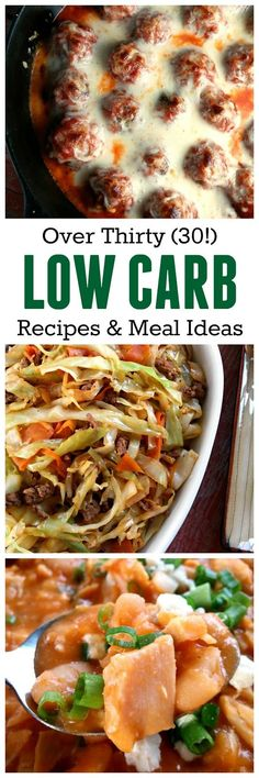 Low Carb Recipes and Meal Ideas
