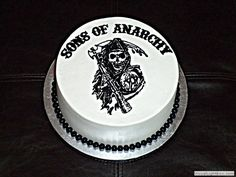 Sons of Anarchy Birthday Cake | Found on jennycakesaz.com