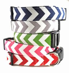 Chevrons - Dog Collar on Etsy, $16.50