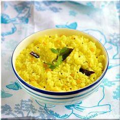 South Indian style Lemon Rice. (Vegan and Gluten Free)
