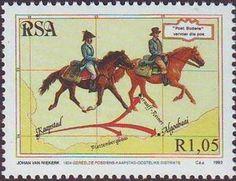 Stamp: Horsemen (South Africa) (Stamp Day) Mi:ZA 911,Yt:ZA 828