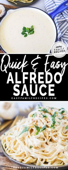 CRAZY Easy Homemade Alfredo Sauce · Easy Family Recipes THE BEST and EASIEST Homemade Alfredo Sauce! This uses cream cheese to cut the time but keeps all the delicious flavor. This alfredo sauce is gluten free, low carb, and perfect for keto dinners. Alfredo Sauce Without Cream, Alfredo With Cream Cheese, Alfredo Sauce With Milk, Make Alfredo Sauce, Alfredo Sauce With Cream Cheese Recipe, Low Carb Alfredo Sauce Recipe, Fetuccini Alfredo Recipe, Cream Cheese Recipes Dinner, Recipes Using Cream Cheese