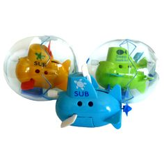 Wind up submarine: boys party bag fillers - age 3+