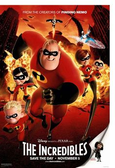 The Incredibles is an American computer-animated superhero film released in the century. The film is directed by Brad Bird. Produced by Pixar Animation Studios and released by Walt Disney Pictures, the movie stars Craig T. Kid Movies, Family Movies, Cartoon Movies, Great Movies, Movies To Watch, Movies And Tv Shows, Movie Tv, Movies Point, Amazing Movies