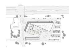 Automotive Showroom in Herning,Site Plan