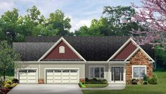 1954 sq ft. 3 car garage. Nice floor plan with study.