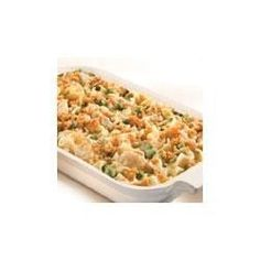 A few pantry staples mix with chicken and frozen peas to make a quick-cooking casserole the whole family will love.