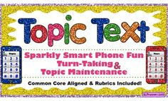 Topic Text - 4 fun conversation skill activities