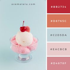 Sweet ice cream in bowl on light background Color Palette Hex Color Palette, Blue Colour Palette, Color Palate, Colour Schemes, Color Combos, Colour Palettes, Combination Colors, Summer Color Palettes, Vintage Colour Palette
