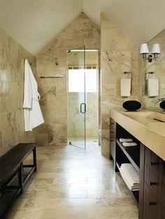 Attic Bathroom Design, Pictures, Remodel, Decor and Ideas - love this shower design!