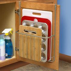 Cutting Board Bakeware Holder Storage Rack Over Cabinet Door Sturdy Steel New in Home & Garden, Kitchen, Dining & Bar, Kitchen Storage & Organization | eBay