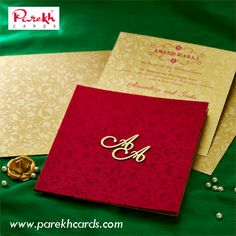 This stylish invitation card is made from rich color satin cloth of fine quality. Card front is covered with designer imprints add a lot of zing to the appearance of this card. The initials are customizable as per couples. Wedding Invitation Wording Templates, Muslim Wedding Invitations, Marriage Invitation Card, Indian Wedding Invitation Cards, Wedding Invitation Video, Invitation Card Design, Elegant Wedding Invitations, Wedding Card Design Indian, Muslim Wedding Cards