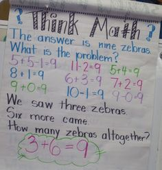 i love this idea. start with the answer, kids come up with their own problems.